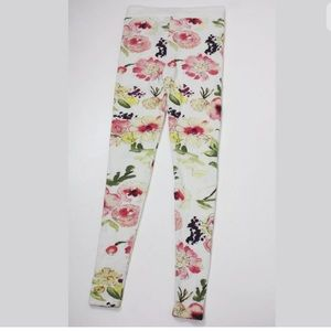 Chaser floral soft stretch leggings sweatpants NWT